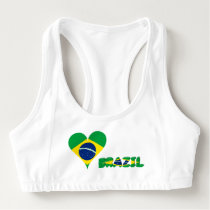 Brazilian heart flag sports bra