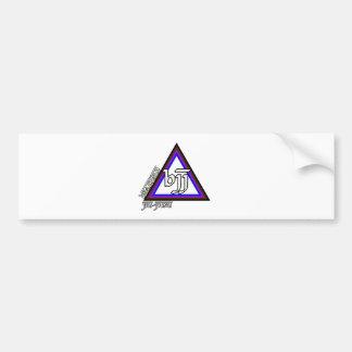 Brazilian Jiu Jitsu BJJ Triangle of Progress Bumper Sticker