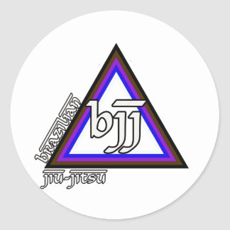 Brazilian Jiu Jitsu BJJ Triangle of Progress Classic Round Sticker