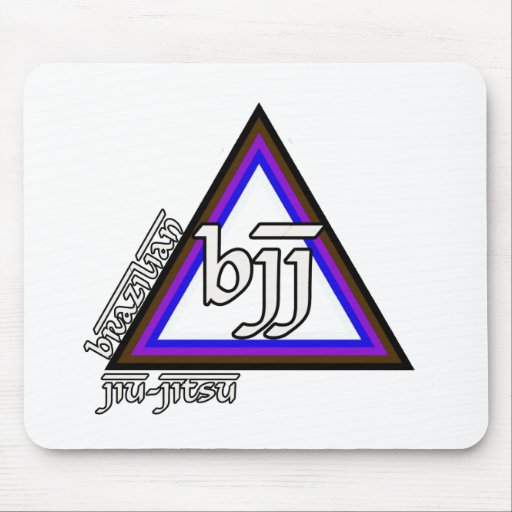 Brazilian Jiu Jitsu BJJ Triangle of Progress Mouse Pad