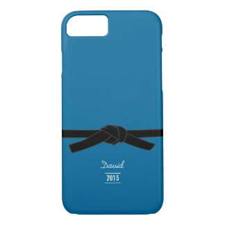 Brazilian jiu-jitsu Black Belt Blue iPhone 7 Case