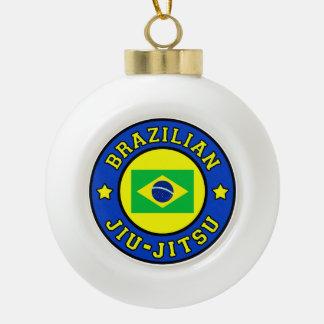 Brazilian Jiu-Jitsu Ceramic Ball Christmas Ornament