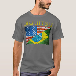 Brazilian Jiu Jitsu Dual Flags T-Shirt
