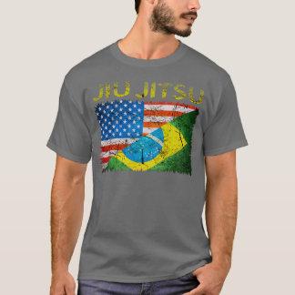 Brazilian Jiu Jitsu Dual Flags T-Shirt
