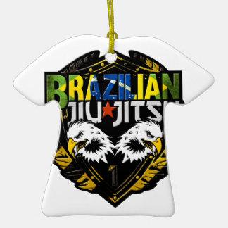 Brazilian Jiu Jitsu Emblem Double-Sided T-Shirt Ceramic Christmas Ornament