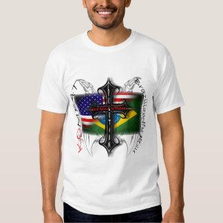 Brazilian Jiu Jitsu Evolution + Revolution Cross Tshirt