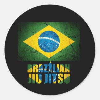 Brazilian Jiu Jitsu Flag Sticker