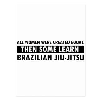 Brazilian jiu jitsu gift items postcard
