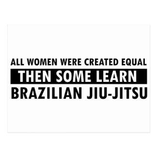 Brazilian jiu jitsu gift items post card