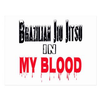 Brazilian Jiu Jitsu In My Blood Post Card