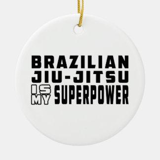 Brazilian Jiu-Jitsu is my superpower Christmas Tree Ornaments
