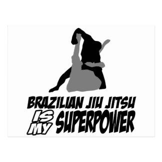 Brazilian jiu jitsu is my superpower postcard