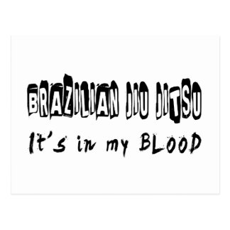 Brazilian Jiu Jitsu It's in my blood Postcards