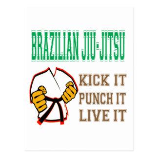 Brazilian Jiu-Jitsu Kick it, Punch it, Live it Postcards