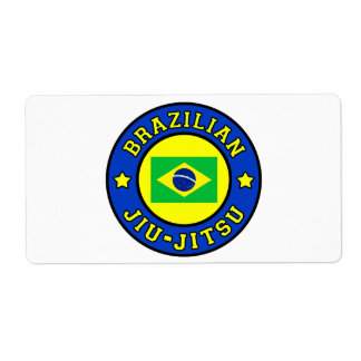 Brazilian Jiu Jitsu Label