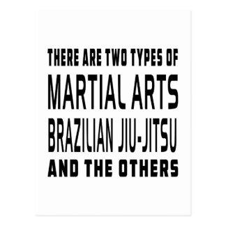 Brazilian Jiu-Jitsu Martial Arts Designs Postcard