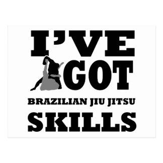 Brazilian Jiu Jitsu Martial Arts designs Post Card