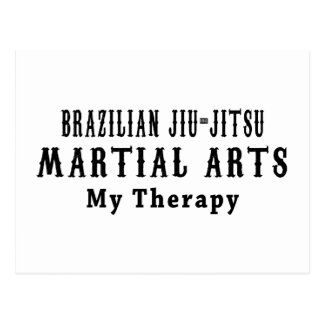 Brazilian Jiu-Jitsu Martial Arts My Therapy Post Cards