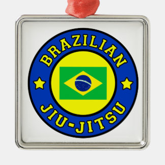 Brazilian Jiu Jitsu Metal Ornament