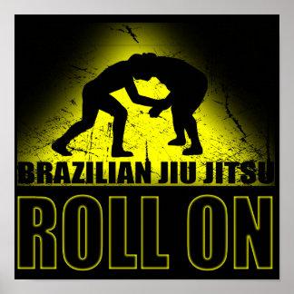 Brazilian Jiu Jitsu - Roll On Poster