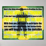 "Brazilian Jiu Jitsu ""See the invisible"" Poster"
