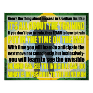 Brazilian Jiu Jitsu See the invisible Poster