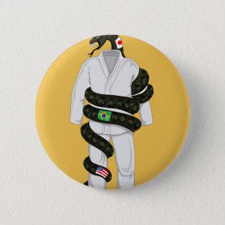Brazilian Jiu Jitsu Snake Pinback Button