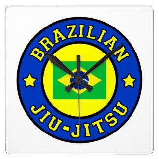 Brazilian Jiu-Jitsu Square Wall Clock