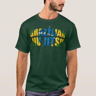 Brazilian Jiu Jitsu T-Shirt in Forest Green