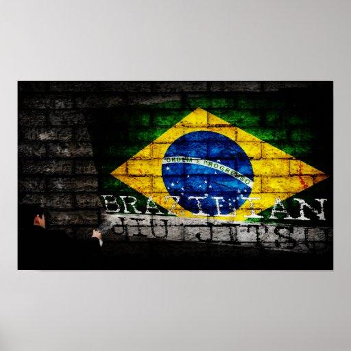 """Brazilian Jiu Jitsu """"Tagged"""" Graffiti Poster"""