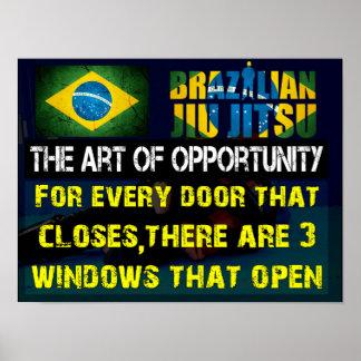 Brazilian Jiu Jitsu -The Art of Opportunity Poster