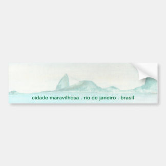 Brazilian landscape car bumper sticker
