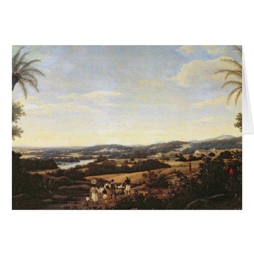 Brazilian Landscape with a Plantation Card