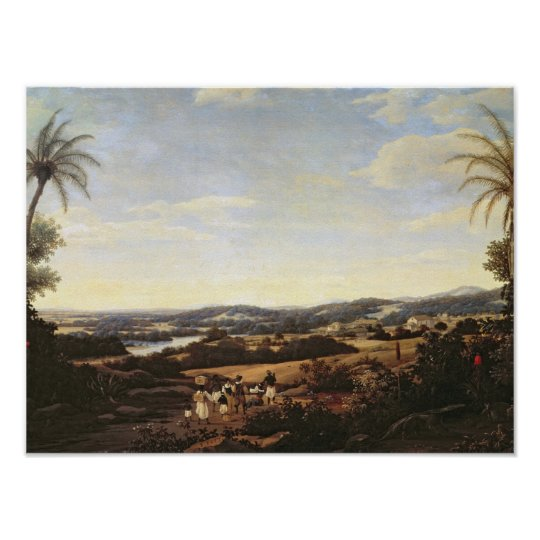 Brazilian Landscape with a Plantation Poster