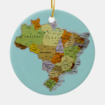 Brazilian Map Christmas Ornaments