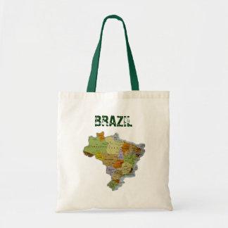 Brazilian Map Tote Bag