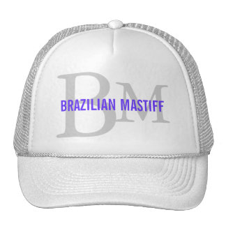 Brazilian Mastiff Breed Monogram Design Trucker Hat