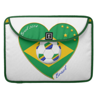 Brazilian national football team Fútbol BRAZIL Fundas Para Macbook Pro