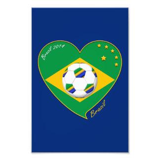 Brazilian national football team Fútbol BRAZIL Arte Fotográfico