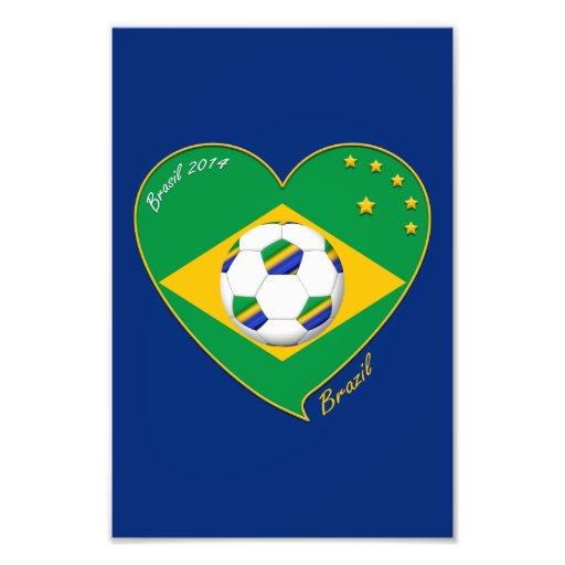 "Brazilian national football team. Fútbol ""BRAZIL"" Arte Fotográfico"