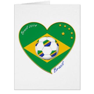 """Brazilian national football team. Fútbol """"BRAZIL"""" Tarjeta De Felicitación Grande"""