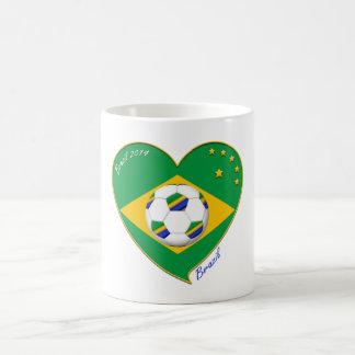 "Brazilian national football team. Fútbol ""BRAZIL"" Taza De Café"