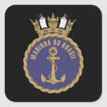 """Brazilian Navy"" Square Sticker"