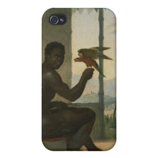 Brazilian negro with Tropical Bird iPhone 4 Cover
