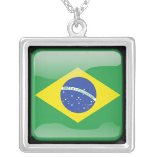 Brazilian polished silver plated necklace