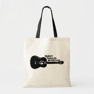 Brazilian popular music budget tote bag