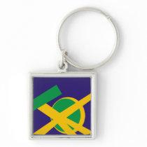 Brazilian Portal Blue Keychain