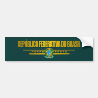 """""""Brazilian Pride"""" Bumper Sticker"""