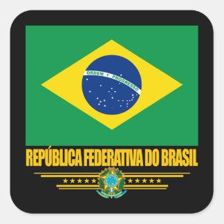 Brazilian Pride Square Sticker