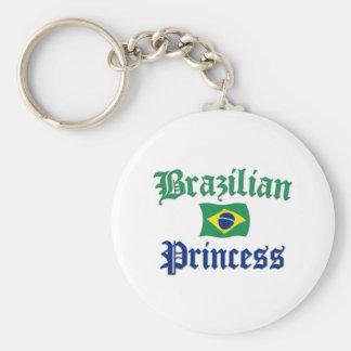 Brazilian Princess 2 Basic Round Button Keychain